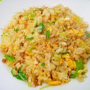 鶏そぼろと水菜の炒飯
