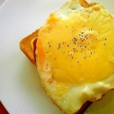 簡単♪おいしい♪目玉チーズトースト