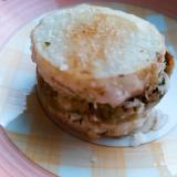 長芋のグリーンピース甘煮天ぷら