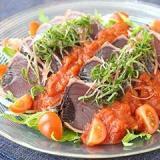 かつおのたたきトマトぽん酢 サラダ仕立て