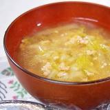 白菜ととりひきにくのスープ