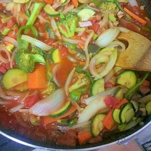 夏野菜のトマトソース煮
