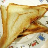 ゆで卵のホットサンドイッチ