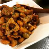 れんこんとお豆のチリチリ炒め♫