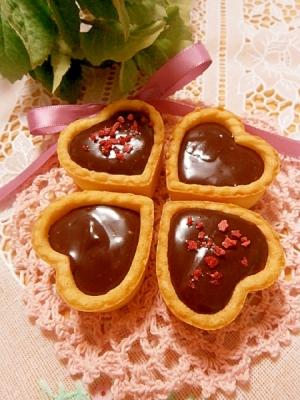 タルトカップ使用で、簡単生チョコタルト♡