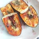 トースターで茄子のチーズ焼き