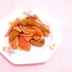 ウスター風味♪キャベツとソーセージの炒め物