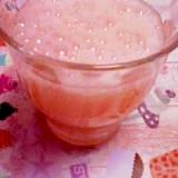 自家製いちご酢で作る♬いちご炭酸水