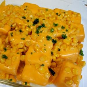 バターコーンのせチーズ豆腐