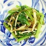 小松菜とえのきの玄米塩麹炒め