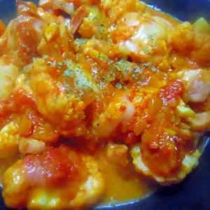 カリフラワーのトマトチーズ煮
