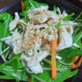 ささみと水菜のサラダ