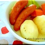 ストウブ鍋で残り野菜とソーセージの簡単ポトフ