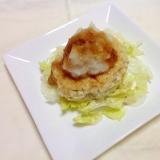 鶏ひき肉で♪ヘルシー豆腐ハンバーグ(o^^o)