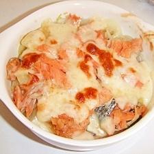 ダイエット中の鮭のチーズ焼き