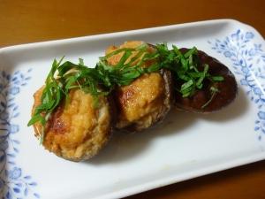 柚子コショウがピリッ!椎茸の肉詰め