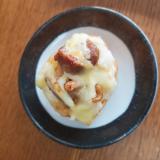 マッシュポテト&焼き鳥のチーズトースト