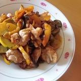 鶏肉と夏野菜のケチャップ炒め