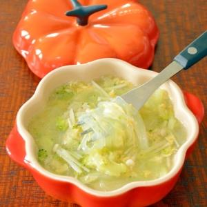 くたくたブロッコリーの☆食べる春雨スープ
