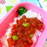 離乳食☆トマトと枝豆のハヤシライス弁当