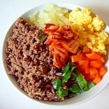 ひき肉で、簡単にビビンバ(全工程写真あり)