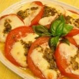 焼きカプレーゼ★トマトとチーズのトースター焼き