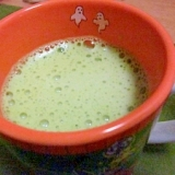 お家で作る抹茶ラテ