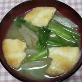 大根と小松菜とゴボウ入りせんべい汁☆