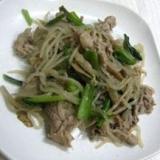シンプルな味で☆しらたきと豚肉の炒めもの