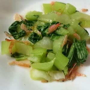 チンゲン菜と小エビのナムル