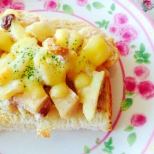 さつま芋サラダで♡トースト