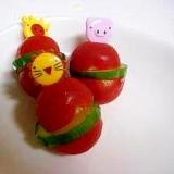 お弁当にミニトマトときゅうりのピンチョス