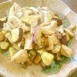 チキンとさつまいもとエリンギのバルサミコソテー