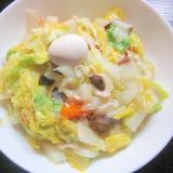 レトルト八宝菜で作る簡単皿うどん♪