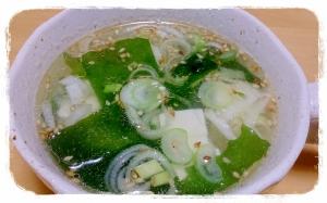 時短☆豆腐入りわかめスープ