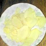 収穫した新生姜で 甘酢漬けです♪