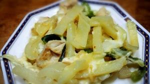 簡単美味しい!鶏肉とじゃがいものチーズ焼き
