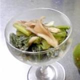 小松菜とまいたけのさっぱりマリネ