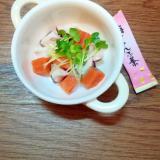 タコとサーモンの和風マリネ♪梅こんぶ茶風味