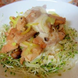 玉ねぎヨーグルト★チキンとアルファルファのサラダ