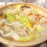 ホタテ缶で、豪華白菜鍋