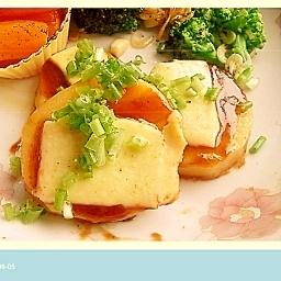 ジャガイモの甜麺醤チーズ焼き
