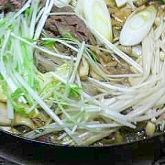 冷蔵庫の野菜室の在庫処分!簡単すき焼き
