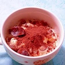 甘栗とココアのトッピングアイス