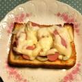 魚肉ソーセージでピザトースト