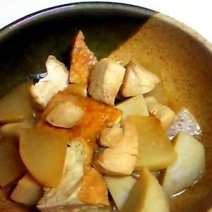 旬の野菜、大根と里芋の煮物