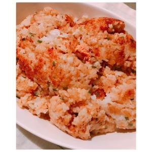フライパンで石焼ビビンバ風♡明太子&チーズおこげ♪