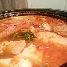 海鮮と鶏の♡韓国鍋