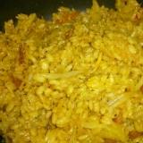 フライパンだけで生米から作るキムチチャーハン