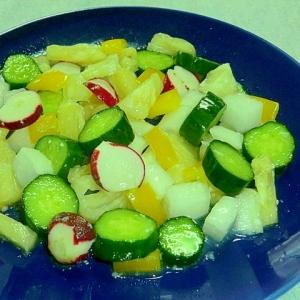塩麹とパイナップルで甘さ控えめ減塩サラダ